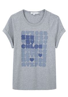 SEE BY CHLOÉ /  CROSSWORD LOGO TEE