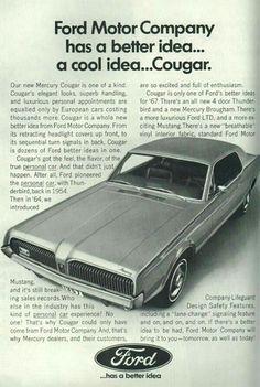Ford Mercury Cougar advert