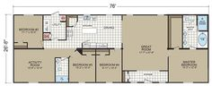 Floor Plans: Diamond 2880 201 - Manufactured and Modular Homes