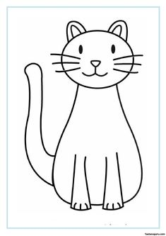 printable cat coloring pages for kids - Cat Coloring Page