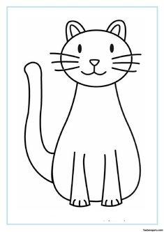 Kedi Boyama Sayfası Sevimli Desenler Pinterest Coloring Pages