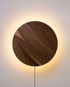 Lighting Plywood Geometric Figures - Wall Decor Circles - Illuminated LED Wall Art