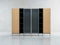 Офисный шкаф со стеклянными дверцами - Ribbon - http://mebelnews.com/ofisnyj-shkaf-so-steklyannymi-dvercami-ribbon
