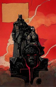 batman & bane//alex maleev___!!!