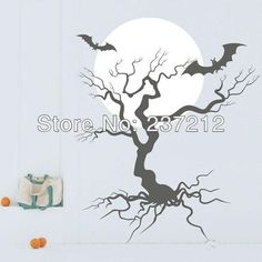 Wholesale Wall Stickers Wall Decal - Buy Halloween Night Abstract Conception Branches of Large Living Room Sofa TV Background Wall Stickers,...