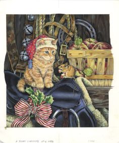 Western Christmas Cat And Mouse Donna Race