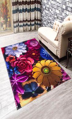 Anti-Slip Flowers Doormat Carpet
