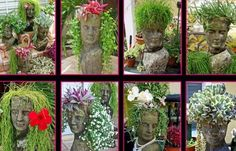 DIY Head Planters | TheWHOot