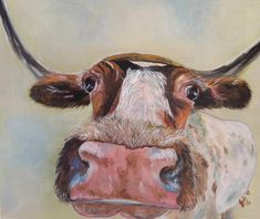 """""""Comical Cow by Julie Hollis. Paintings for Sale. Best Interior Paint, White Cafe, Wood Logo, Drawing Sketches, Drawings, Quirky Art, Cafe Art, Paint Brands, Interior Design Business"""