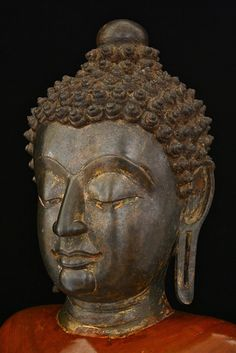 Head of Buddha. Thailand, Lanna, 14th century. Bronze.