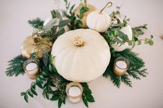Available for Fall 2018 for Pittsburgh area couples! Pittsburgh wedding wedding decor pittsburgh wedding decor pumpkin decorations centerpeices all white pumpkins White Pumpkins Wedding, Pumpkin Wedding Decorations, White Pumpkin Centerpieces, White Pumpkin Decor, Rustic Wedding Centerpieces, Bridal Shower Decorations, Wedding Table, Wedding Ideas, Wedding Cakes