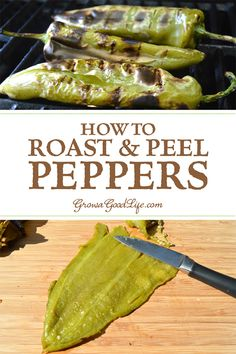 How to Roast and Peel Peppers Step by Step - Roasting enhances the sweetness of the pepper and adds a nice smoky char depth. Roasted and peeled chile peppers can be used in your favorite recipes right away or frozen for later. Hatch Green Chili Recipe, Green Chili Recipes, Hatch Chili, Mexican Food Recipes, Whole Food Recipes, Mexican Menu, Mexican Cooking, Mexican Dishes, Meat Recipes