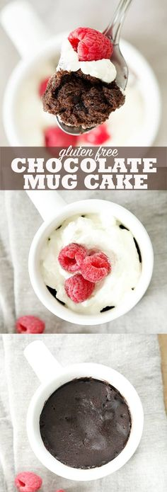 Gluten free chocolate mug cake is made in 1 minute in the microwave with no egg. Learn the secrets to making it moist and tender every time!