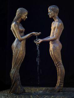 Skulptur Liebespaar von Malgorzata Chodakowska