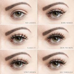 Velour Lashes See Through Collection. The most natural falsies on the market! Kiss Eyelashes, Get Long Eyelashes, Longer Eyelashes, Velour Lashes, Faux Lashes, Applying Eye Makeup, Evening Makeup, Natural Lashes, Colorful Eyeshadow