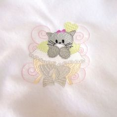 Kitten Baby Blanket Fleece Handmade Embroidered White Embroidered   PinkCloudsAndBabyBlue - Children's on ArtFire Embroidered Baby Blankets, Baby Kittens, Fiber Art, Artisan, Handmade Items, Needlepoint, String Art, Craftsman, Kittens