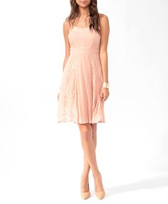 Paneled Lace Trim Dress | FOREVER21 - 2011850501