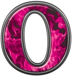 Reflective Letter G With Inferno Pink Flames Alphabet