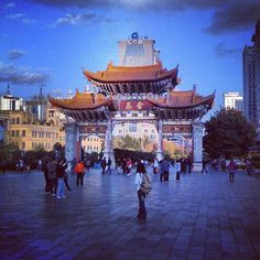 The Arch, Kunming, China, around the corner from here is where i ordered the whole menu because i couldn't read chinese!