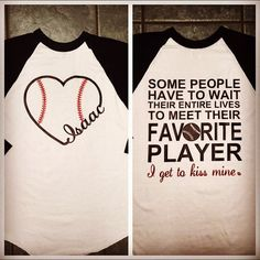 Baseball girlfriend  by StudioChaseDesigns on Etsy