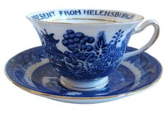 English Willow Souvenir Cup & Saucer