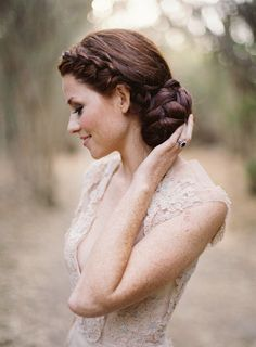 Gorgeous wedding gowns are not the only thing we love in this Jose Villa  + TEAM Photoshoot! #Hairstyle | More on SMP: http://www.stylemepretty.com/2013/11/12/style-me-prettys-2013-fashion-beauty-e-magazine
