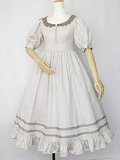 Victorian Maiden - Royal Marine Long Dress. Classic Country Lolita Gothic.
