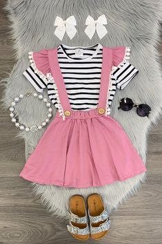 Shop cute kids clothes and accessories at Sparkle In Pink! With our variety of kids dresses, mommy + me clothes, and complete kids outfits, your child is going to love Sparkle In Pink! Little Girl Outfits, Toddler Girl Outfits, Little Girl Fashion, Baby Girl Dresses, Toddler Fashion, Kids Outfits, Kids Fashion, Cute Outfits, Fashion Clothes