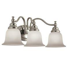 Portfolio 2 Light Brandy Chase Brushed Nickel Bathroom Vanity Light 1 2 Bath