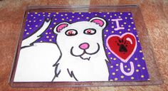 Ferret Loves You -For Sale $15 Includes US Ship- by TheFlyinFerret.deviantart.com on @DeviantArt Art Cards, Mini Paintings, Us Shipping, Ferret, Love You, Kids Rugs, Deviantart, Te Amo, Je T'aime
