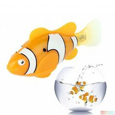 Christmas Toys#Cool It Newest Cute Novel Robo Fish Electric Toy Pet Fish with Aquatic Gift for Kids Orange