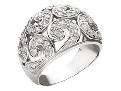 Pierścionek srebrny z cyrkoniami - wzór AP01-3808 / Apart