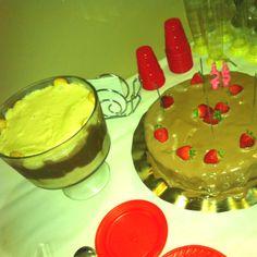 Strawberry and chocolate cake Cupuaçu and brigadeiro cream!  Perfect!