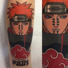 Made this Pain today for Lukas safe travels! #tattoo #naruto #greenappletattoo #longislandtattoo by perjtattoo