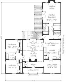 Looking for the best house plans? Check out the Town And Country House plan from Southern Living. House Layout Plans, Best House Plans, Small House Plans, House Layouts, Southern Cottage, Southern Living House Plans, French Cottage, The Plan, How To Plan