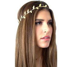 tumblr Fashion New Womens Rose Flower Bronzing Leaves Women Hair Band Headband…