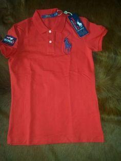 NEW POLO RALPH LAUREN WOMENS US OPEN RED POLO SHIRT 2014 BIG PONY SZ SM #RalphLauren #PoloShirt