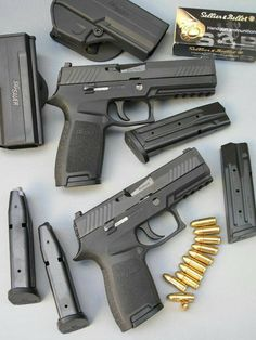 Glock 16 & Glock 17 with 40 metal grain level jackets and magazines