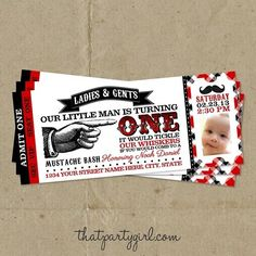 lil man mustache birthday | Little Man Mustache Bash Baby Shower Boy Birthday Party Ticket ...