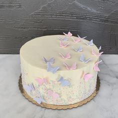 Best of Philly bakery for amazing wedding cakes, birthday cakes, cupcakes and cookie favors. Fill out our contact form today! 16th Birthday Cake For Girls, 14th Birthday Cakes, Butterfly Birthday Cakes, Pretty Birthday Cakes, Bithday Cake, Birthday Cake With Flowers, Butterfly Cakes, Bolo Moana, Teen Cakes