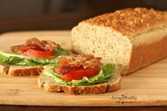 The best Paleo bread recipe that is grain free, gluten free and low carb. The best Paleo bread recipe that is grain free, gluten free and low carb. Best Paleo Bread Recipe, Paleo Sandwich Bread, Bread Recipes, Real Food Recipes, Gluten Free Recipes, Low Carb Recipes, Diet Recipes, Cooking Recipes, Healthy Recipes