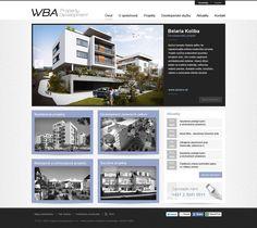 Grafické spracovanie webu developerskej spoločnosti WBA Property Development s.r.o. Web Design, Desktop Screenshot, Design Web, Website Designs, Site Design