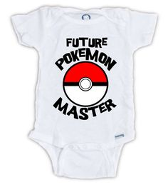 Future POKEMON MASTER Onesie Pokemon Go Onesie by JujuApparel