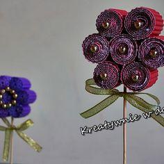 Kwiatki DIY z tektury falistej
