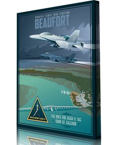 Share Squadron Posters for a 10% off coupon! Marine Corps Air Station Beaufort, MAG-31 F-18 and F-35 #http://www.pinterest.com/squadronposters/