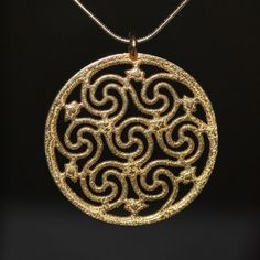 Celtic Seven Spiral Pendant by DODesigns3D on Etsy, $27.00