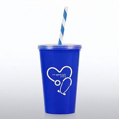 Value Tumbler with Candy Striped Straw: We Appreciate You