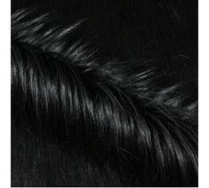 Umělá kožešina černá s dlouhým vlasem, š.160
