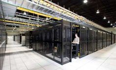 A look inside a QTS (Quality Technology Services) data center.