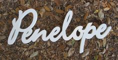 custom wood name sign - etsy  I'd love to do our last name, but it's too long :P
